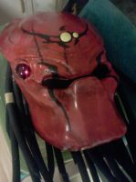 Finished Big Red Predator Helmet by Metallica005