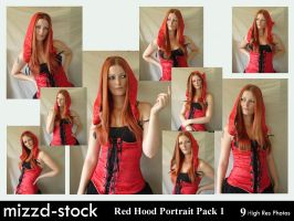 Red Hood Portrait Pack 1 by mizzd-stock