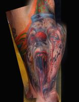 freehand clown by justinstattoos
