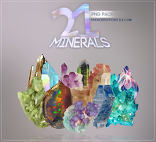 { M I N E R A L S  .PNG PACK} by FranceEditions