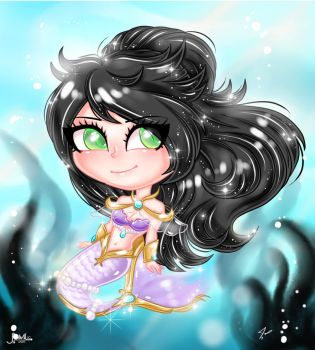 Mermaid Fantasy Jewel Chibi aww by JamilSC11