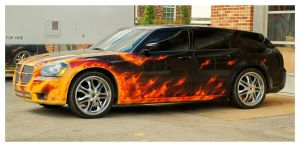 A Flaming Hot Dodge Magnum by TheMan268