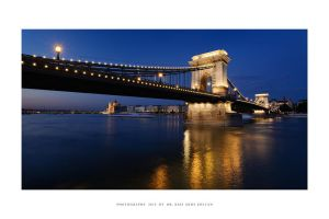 Chain Bridge by night by DimensionSeven