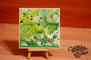 Green Birthday card by willika
