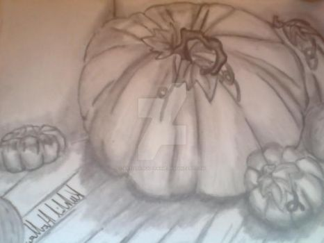Pumpkins still life study by ArtistKj8300Anime