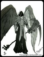 Malthael from DIABLO with a Death Scythe by Dreadlight