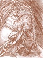 Cave Creature by Kanthara