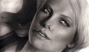 Charlize Theron last WIP by Haliestra