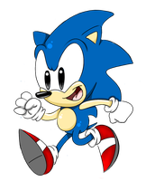 classic sonic by MrBigTheArtist