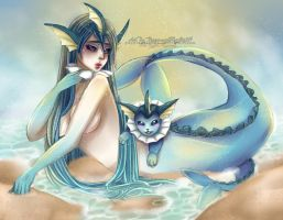 Vaporeon by PeppermintRain
