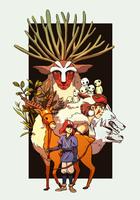 Princess Mononoke by r1ie