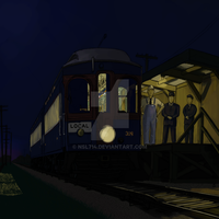 Late Night Train at Batavia Junction by NSL714