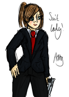Random Suit Lady Doodle by AkariMMS