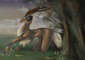 Raining day - colors by Saki-BlackWing