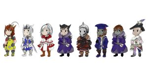 Final Fantasy XIV Raid Group Sprites by Jaydenwolf
