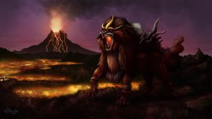 Firey Entei by Legend13