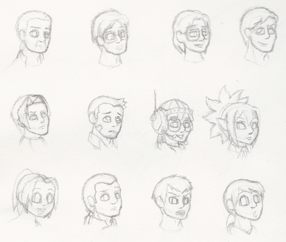 It's a Bunch of Heads by HotAndColdAF