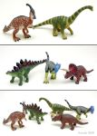 Repainted Toy Dinosaurs by Osmatar