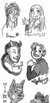 The Second Left-Hand-Drawn Sketchdump of DOOM! by MayVig