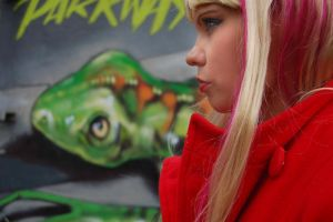 Emma with grafitti by sykesphotography