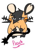 Peach the dedenne by snivy-fan