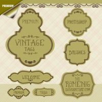 Cool Premium Vintage Labels by Romenig