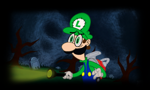 Luigi spooked scary by RavingBoyAleks
