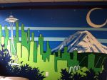 Seattle Skyline Wall Mural by frokid02
