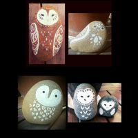 Stone Owls by Tankero
