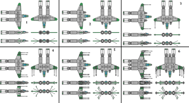 Space racer fighter progressions by typical-unusual