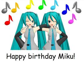 Happy Birthday Miku by enitul