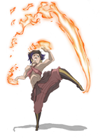 Commission: Scoric OC Firebender by moptop4000