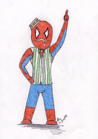 Barbershop Spidey by PokeTheCactus