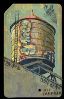 Metrocard-graffiti tower by jeff-faerber