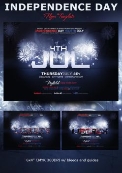 Liberty 4th July Flyer Preview by mrkra