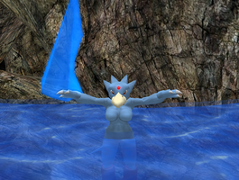 My golduck avatar on sl 3 by SpaceRanger108