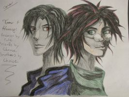 Harry Potter and Tom Riddle by shadowedshards