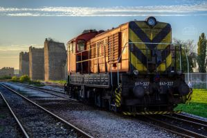 HDR Train in Smederevo by aleexdee