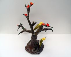 Birds on Tree Sculpture by aakritiarts