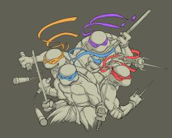 Heroes in a Half Shell: My TMNT Threadless T-shirt by iangoudelock