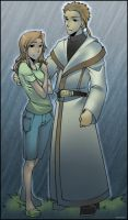 Mimi and Gennai - In the Rain by digilife-gallery