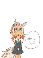 You make her uncomfortable :3 by H3ARTOFTHEOCEAN