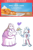 peach crepes by FuPoo