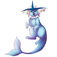 Vaporeon by Searii