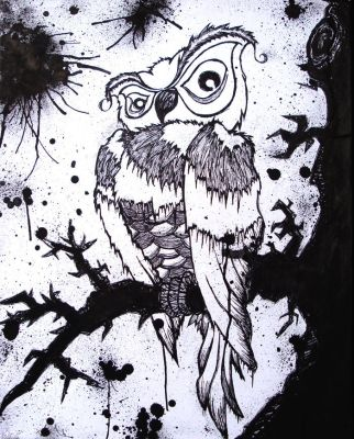 Inked Owl: Archimedes by SeantheArtist