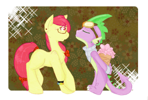 +MLP:FiM - SpikeBloom - A change of heart+ by Sky-lin3r