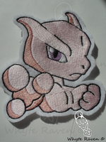 Mewtwo Embroidery Patch by Whyte-Raven