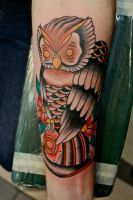 Firefighter Tribute Owl by Steve-Rieck