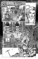 Harley Quinn  Issue # 2 Page 5 Inks with Greytones by StephaneRoux