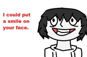 Jeff the Killer (Valentine's Day card) by gabrielle44